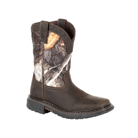 Rocky Kid's Ride Real Tree Camo FLX Waterproof Western Boot