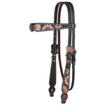 Circle Y Sunflower Buckstitch Browband Headstall