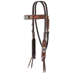 Circle Y Filigree Beaded Cream Browband Headstall