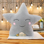 Cosmic Plush Pillows: star, moon, raindrop & clouds