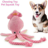 Octopus Dog Toy Plush