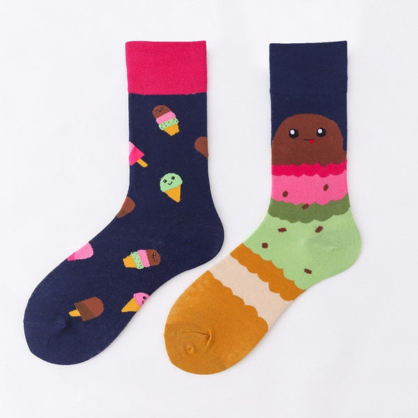 ice cream lover, cool socks, OOTD, ice cream flavors