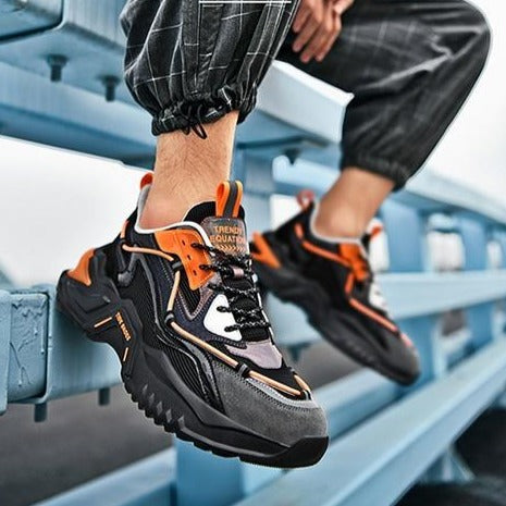 CYBERPUNK 'String Paradigm' Sneakers Electric Orange