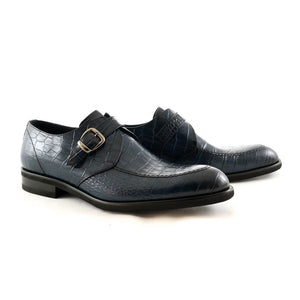 Monkstrap-Loafer, dunkelblau