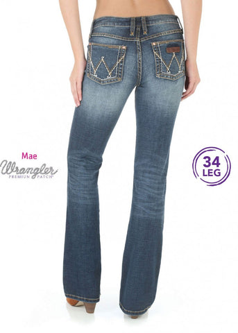 Wrangler - Women's P/Patch Sits Above Hip Jean – Mae – 34 Leg