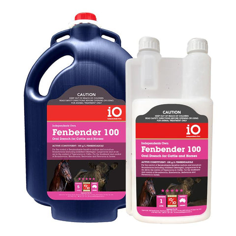 iO Fenbender 100 Worming Drench for Horses & Cattle