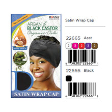 Load image into Gallery viewer, Donna Argan & Black Castor Organic Oils Satin Wrap Cap 22666 / 22665