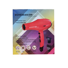Load image into Gallery viewer, H2Pro Bohemian 3500 Hybrid NANO HI-TECH Hair Dryer Red