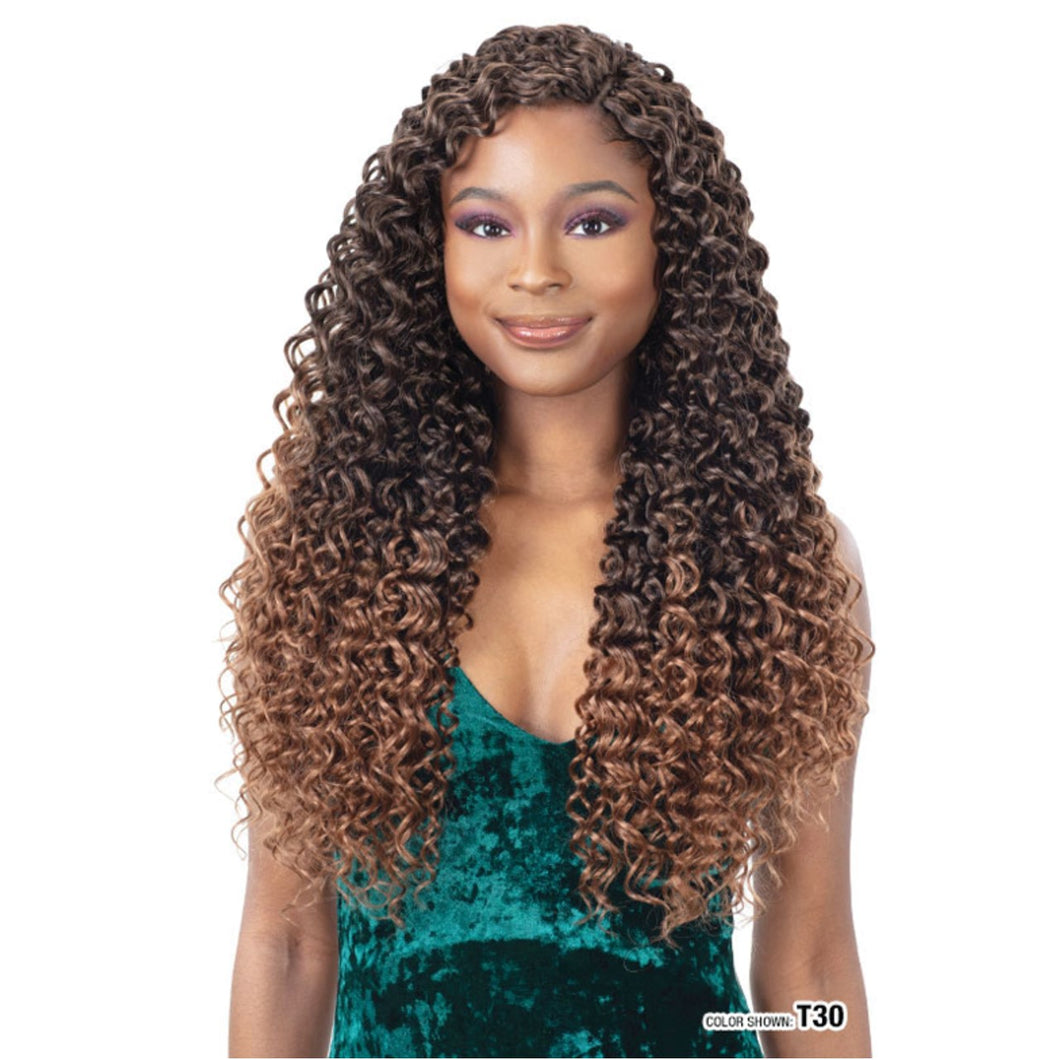 Freetress Synthetic 3X  Crochet Braid MAZO CURL 18