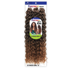 Load image into Gallery viewer, Freetress Synthetic 3X  Crochet Braid MAZO CURL 18""