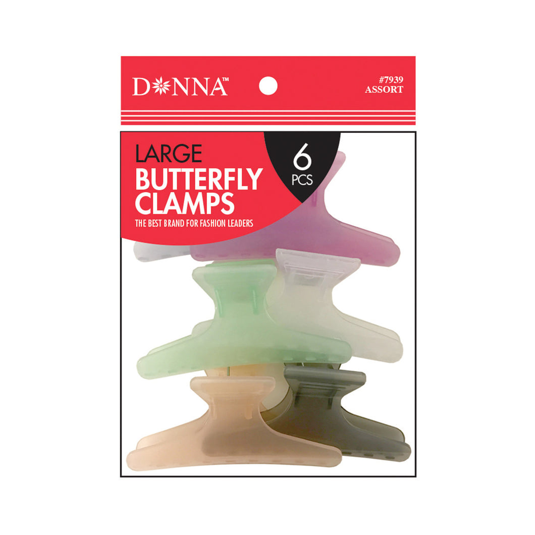 Donna Color Butterfly Clamps Large 6pcs 7939