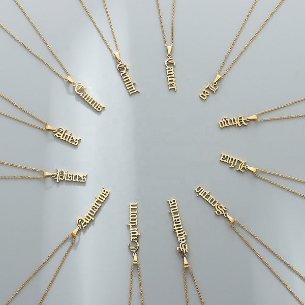 Vertical Horoscope Necklace