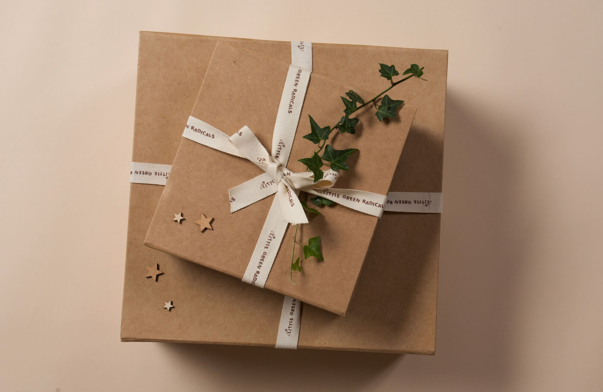 plastic free gift wrapping