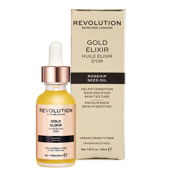 Makeup Revolution Skin Rosehip Seed Oil - Gold Elixir 黃金比例多重修復玫瑰油(30ml)