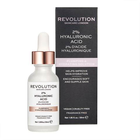 Makeup Revolution Skin Plumping & Hydrating Solution - 2% Hyaluronic Acid 透明質酸高保濕精華(30ml)