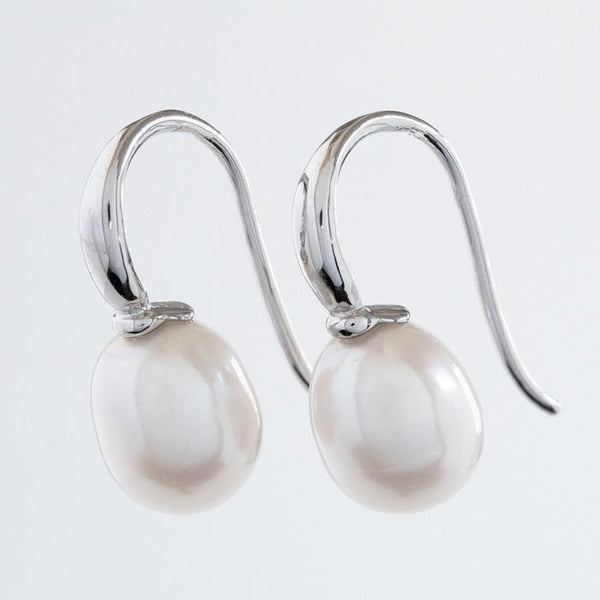 """Monday"" Freshwater 8.5mm Baroque Pearl Sterling Silver Earrings - Révélations Boutique"