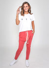 EMMA LOUNGE PANT - Washed Red
