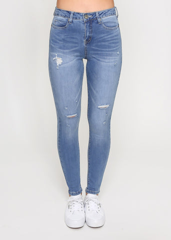 KENDALL HIGH WAIST SKINNY JEANS - Ink Wash