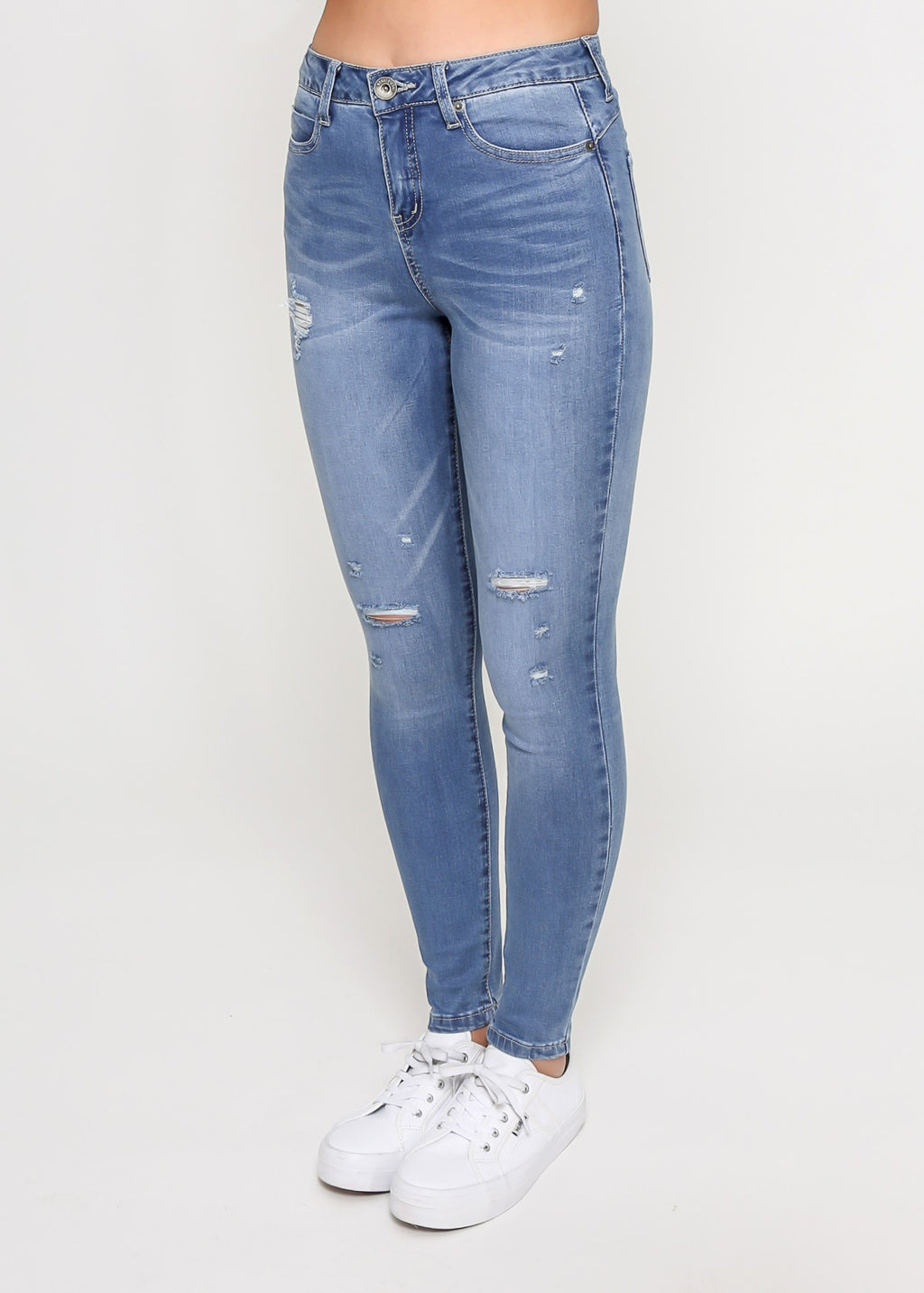KYLIE HIGH RISE JEAN - Blue wash