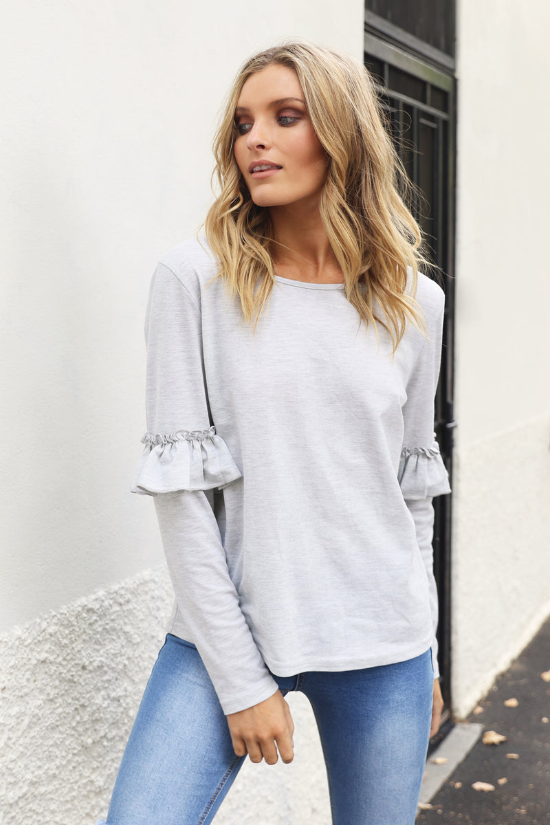 IZABEL TOP - Grey