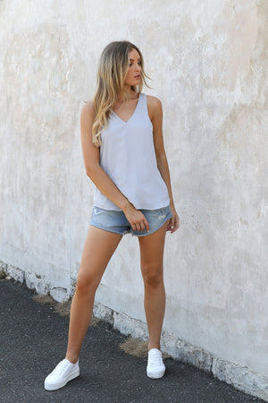 AVA TANK TOP - Light Grey