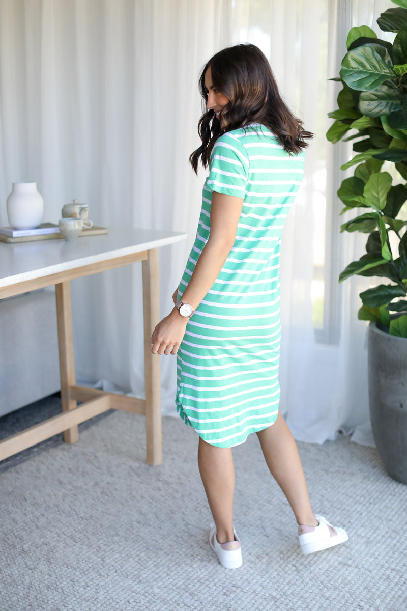 BOUVIER S/S DRESS- Stripe