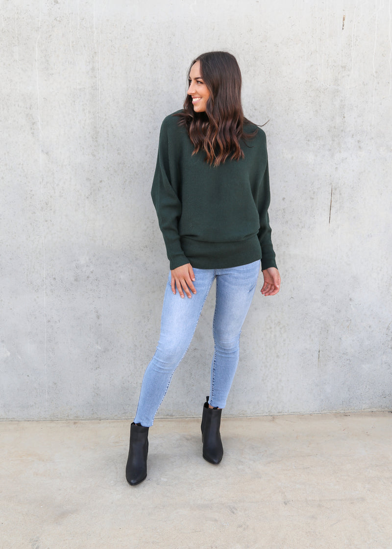 ALINTA KNIT-Forest Green