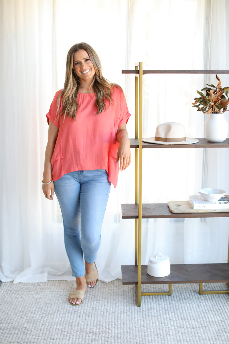 BELLMONT TOP- Coral