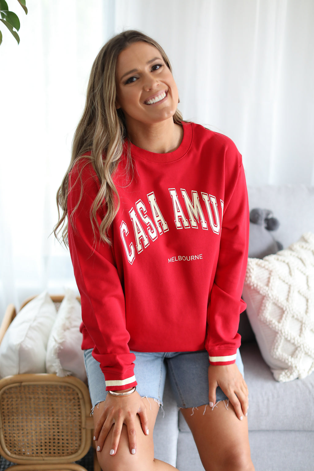 CASA AMUK VINTAGE JUMPER- Red