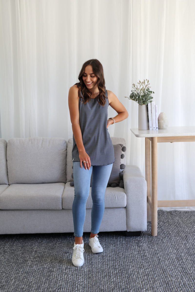 LOTTIE LAYER TANK- Navy