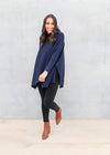 AVERY KNIT- Navy