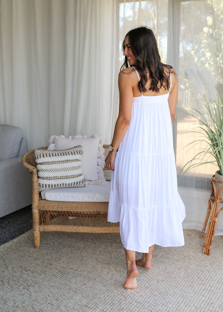 CAPRI RA-RA SKIRT - White