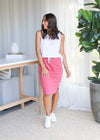 FUNDAMENTAL ISLA SKIRT- Deep Rose