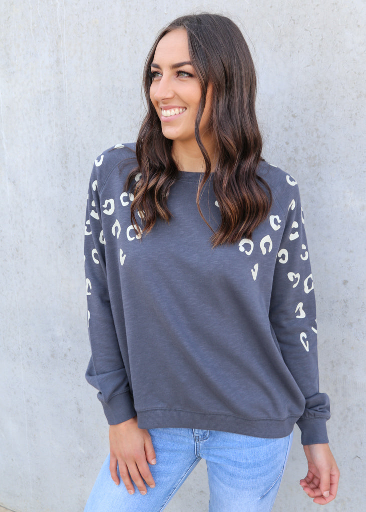 MARLEY SWEATER- Charcoal
