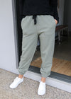 RIB TRIM TRACKPANT - Khaki