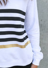 BALLY SWEATER- White Stripe