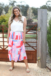 INFINITY PLEAT SKIRT- Infinity Print