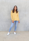 JEMMA KNIT TOP- Yellow
