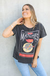 LOST MATCHES TEE - Vintage Black