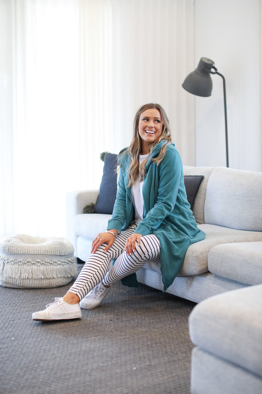 NAOMI HOODED CARDI - Green