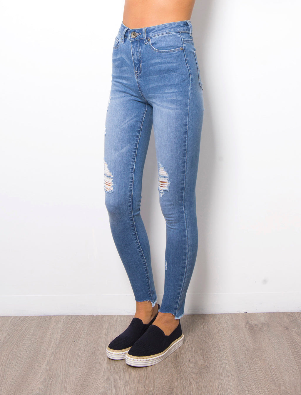 KIM HIGH RISE JEAN - Blue wash
