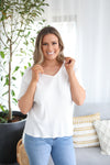 ROMAN HOLIDAY TOP- White