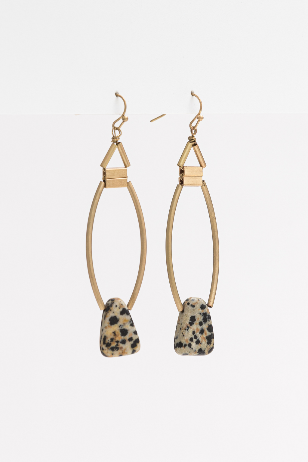 JANE EARRINGS- Stone/Gold