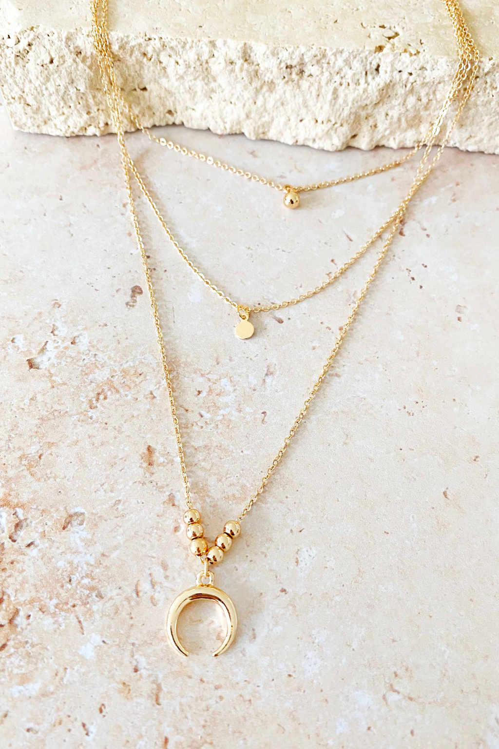 VENUS LAYER NECKLACE- Gold