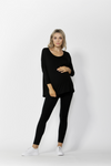 MILAN 3/4 SLEEVE MATERNITY- Black