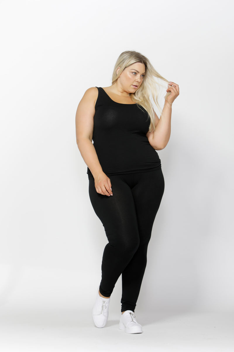 EMMA SCOOP TANK CURVE- Black