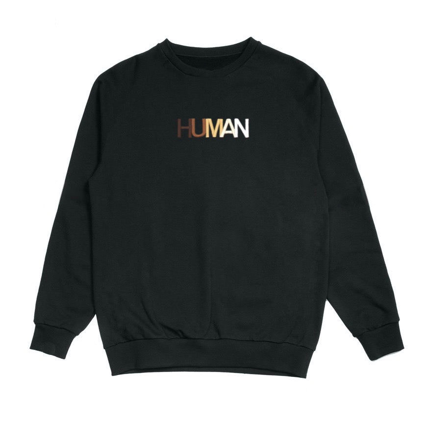 Human Embroidered Crewneck