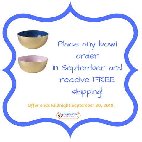 Free Shipping on Bowl Orders in September