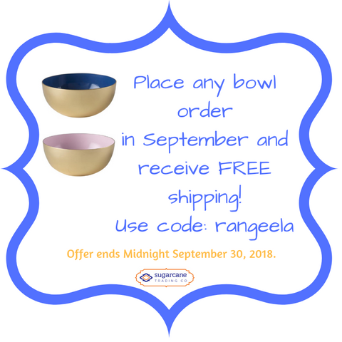 Sugarcane Trading Co Decorative Bowl Offer