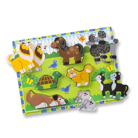 Pets Chunky Puzzle - 8 Pieces by Melissa & Doug #3724
